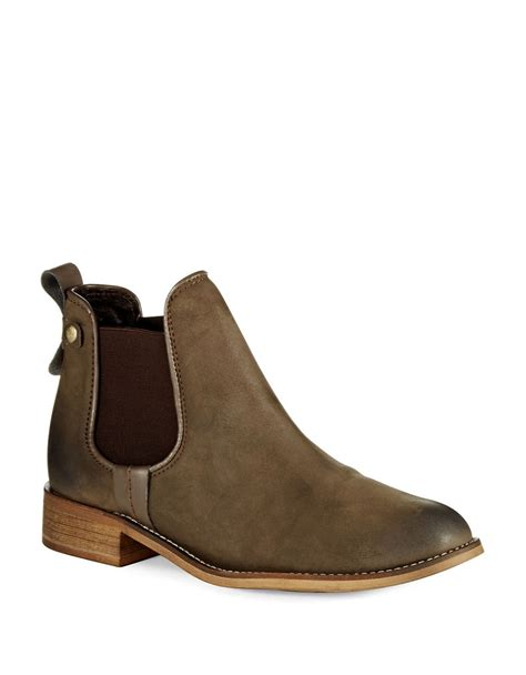 steve madden gilte ankle boots in brown lyst