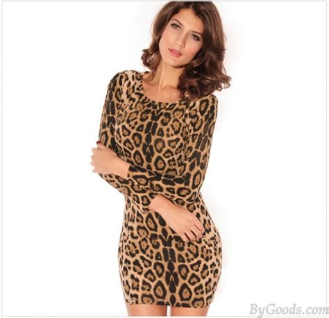 Dress New Leopard new fashion leopard printed sleeved dress fashion