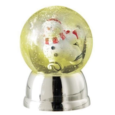 new illuminated shimmering christmas snow globe rotating