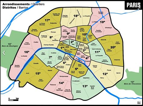 sections of paris map ann jeanne in paris