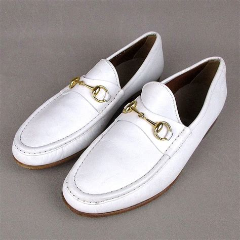 mens white gucci loafers vintage mens gucci white leather horsebit loafers dress