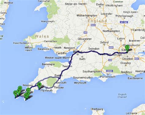 cornwall map the great road trip to cornwall bruised