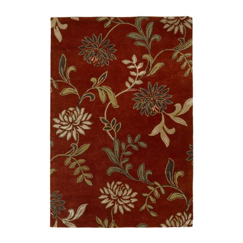 Kas Rugs Flo4562 Florence Floral Area Rug Red Atg Stores Floral Area Rugs