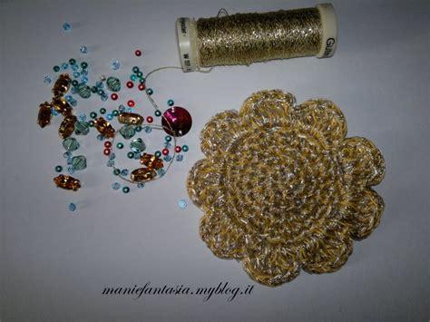 fiori all uncinetto per collane collana uncinetto fiore tutorial manifantasia