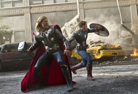 film thor captain america big fight scene in the avengers 1 thor and captain