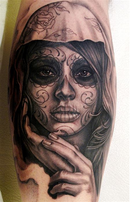 la tattoo artists la catrina tatt beautiful