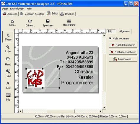 Visitenkarten Programm by Visitenkarten Selbst Gestalten Tools Freeware De
