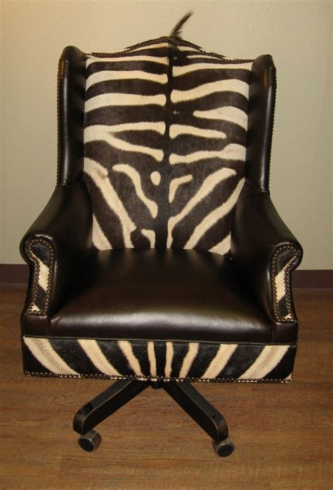 zebra skin office desk chair american office
