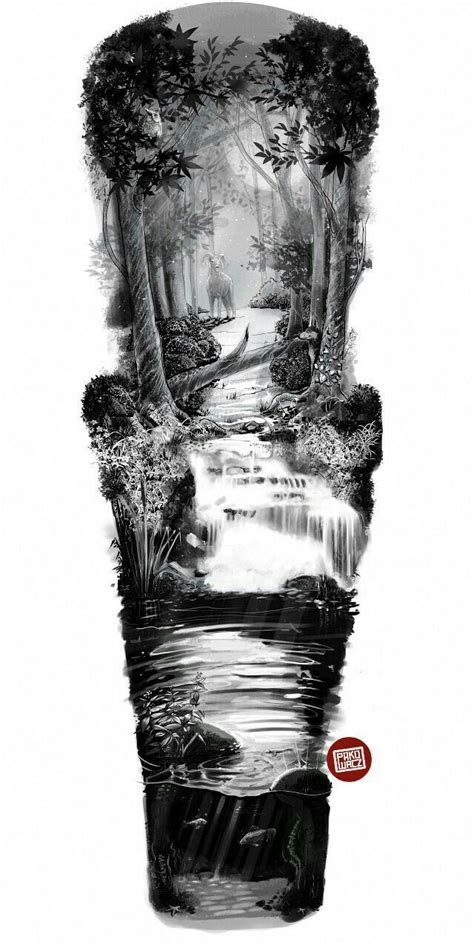 tattoo ideas river river sleeve design designs