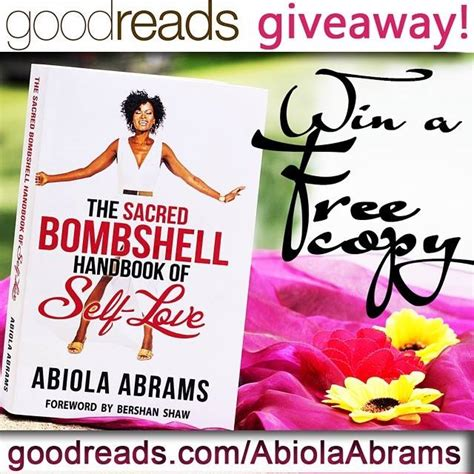 Goodreads Sweepstakes - goodreads giveaway win a copy of the sacred bombshell handbook of self love video