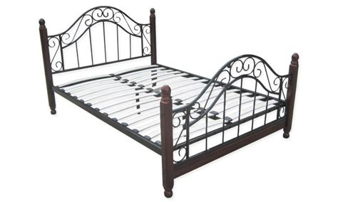 wrought iron bed frame queen ebay