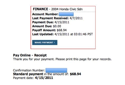 Honda Financial Services Payment by Honda Financial Services Payoff Address