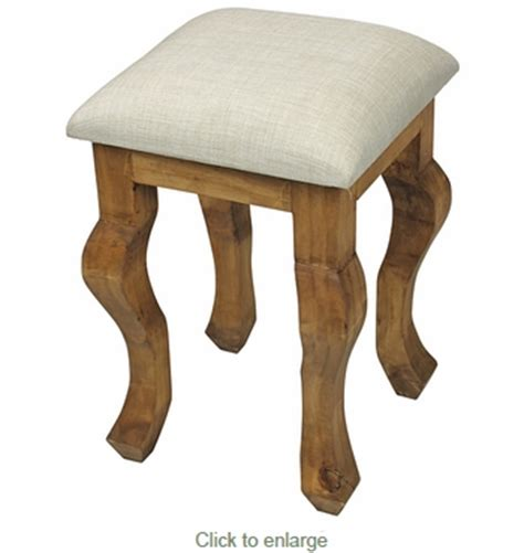 Rustic Vanity Stool by Rustic Mexican Pine Vanity Stool With Padded Seat