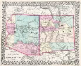Arizona New Mexico Map by File 1877 Mitchell Map Of Arizona And New Mexico