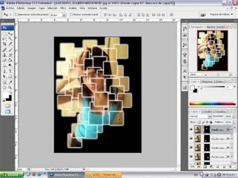 Tutorial Photoshop Cs3 Collage | tutorial collage en una imagen con photoshop cs3 youtube