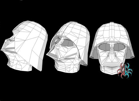 Darth Vader Mask Papercraft - wars darth vader papercraft by silvarruxx on deviantart