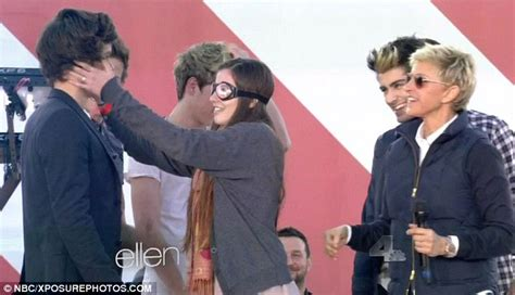 harry styles tattoo ellen harry styles flashes new tattoo and gets felt up by