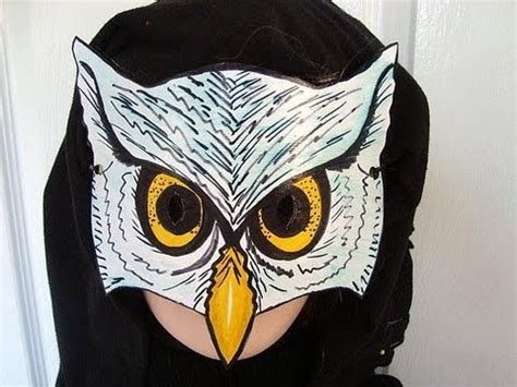 How To Make Scary Masks Out Of Paper - how to make an owl mask masquerade carnival