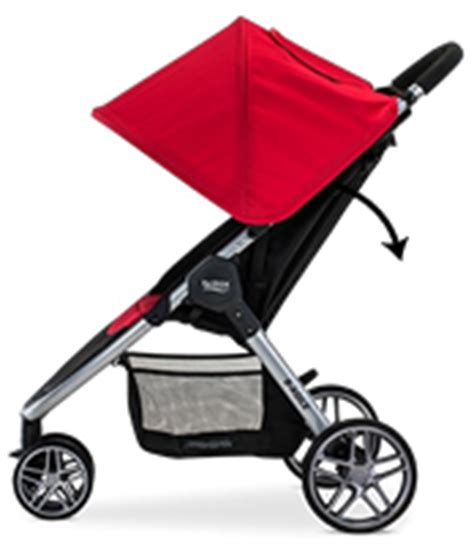 Strollers That Recline Flat by Britax B Agile 3 B Safe 35 Travel System Steel