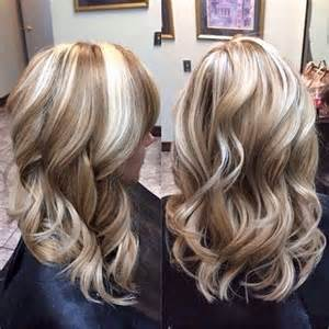 hair highlights and lowlights long brown hair with bold chunky blond highlights dark