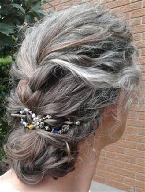 salt and pepper hair bun 25 best ideas about curly gray hair on pinterest long