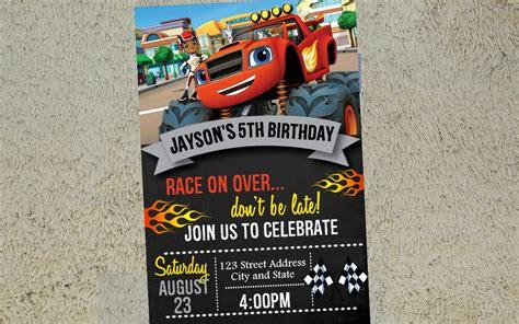 blaze birthday invitation blaze invitation blaze invite free