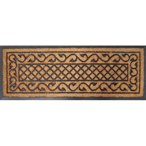 Solemate Doormats rubber and coir check vine door mat temple webster