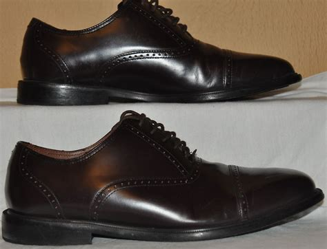 rockport adiprene mens 8 5 m brown leather cap toe oxford