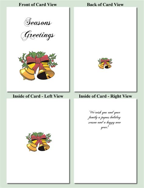 printable christmas cards foldable custom card template 187 quarter fold card template free