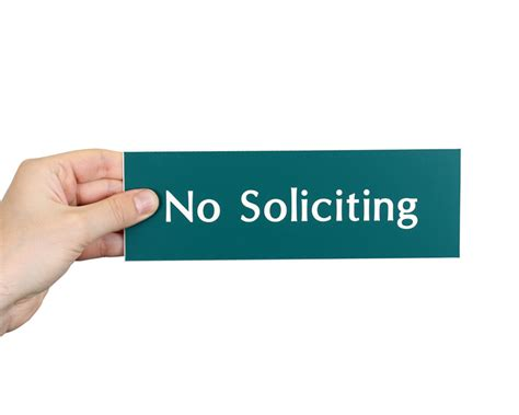 How To Stop Door To Door Solicitors Legally by No Soliciting Signs No Soliciting Decals