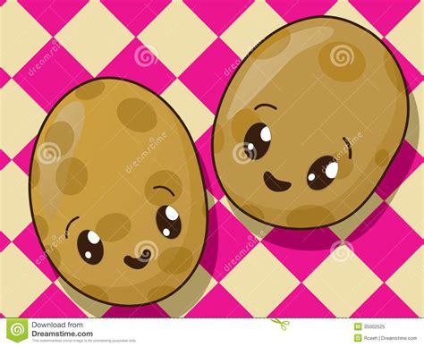 imagenes de zanahorias kawaii iconos de la patata de kawaii ilustraci 243 n del vector