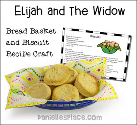 elijah and the widow crafts for bread basket and biscuit recipe craft for elijah and the