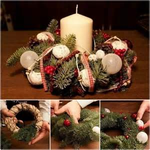 how to diy fresh pine leaf christmas wreath centerpiece