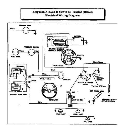 Ferguson Tractors Electrical Wiring