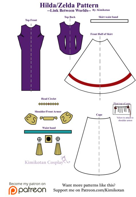 zelda pattern dress hilda zelda cosplay pattern by kimikotan on deviantart