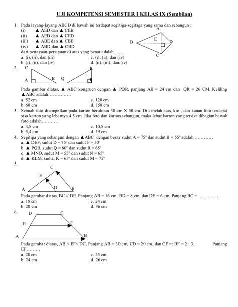 Fresh Update Mega Bank Soal Matematika Sma Kelas 1 2 4 soal matematika semester i kelas ix newhairstylesformen2014