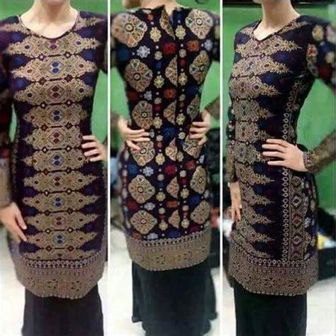 design baju untuk kain songket kain satin kain songket fesyen muslimah di carousell