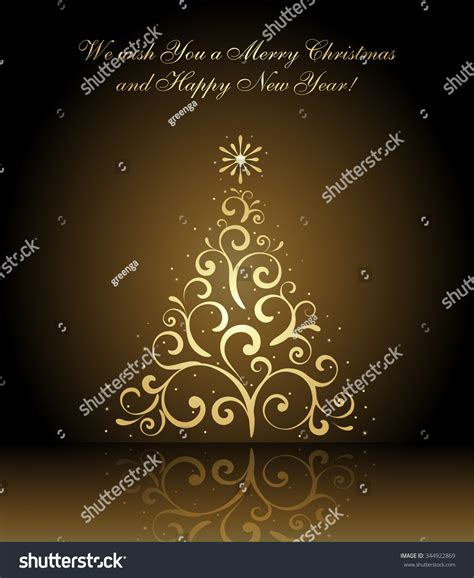 we wish you merry christmas happy stock vector 344922869