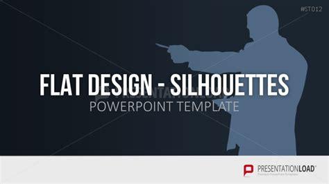 Powerpoint Vorlagen Flat Design Presentationload Flat Design Silhouetten Personen