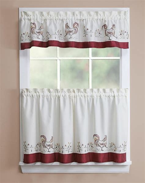 chicken curtains kitchen rooster kitchen curtains rooster emb kitchen curtain