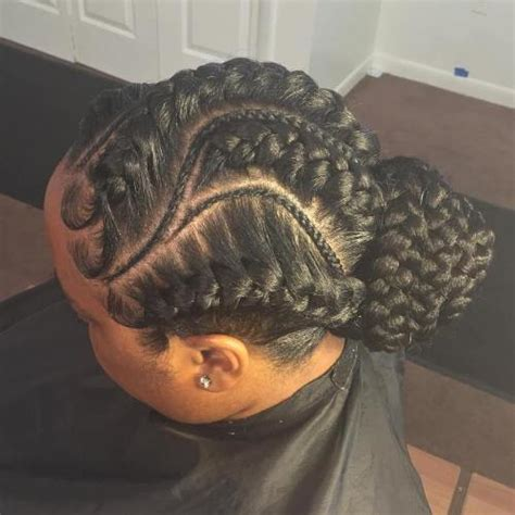 braids and twists hairstyle with a rolled bun front 70 best black braided hairstyles that turn heads in 2018