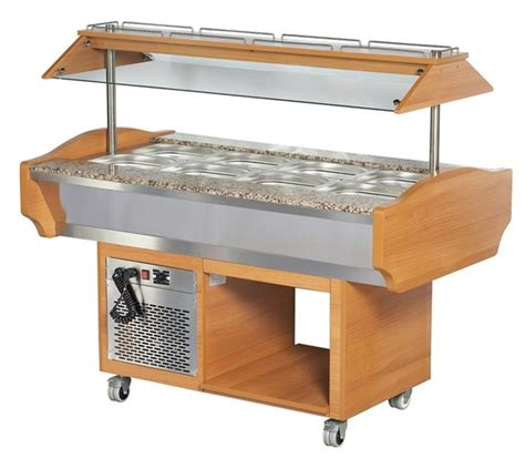 refrigerated bar top refrigerated salad bar with 4 x 1 1 gn size top illuminated canopy plus sneeze screen