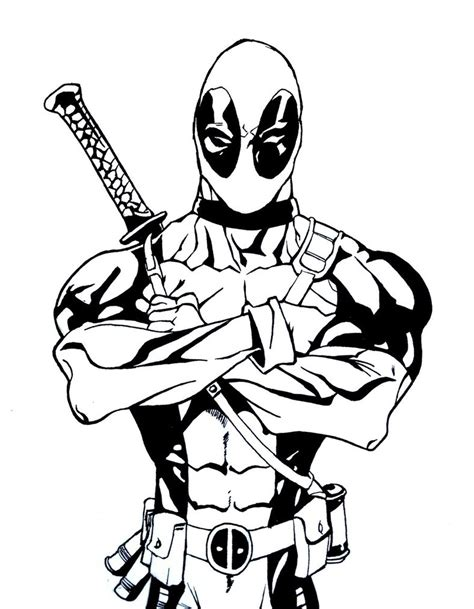 deadpool movie coloring pages old deadpool free coloring page adults deadpool kids