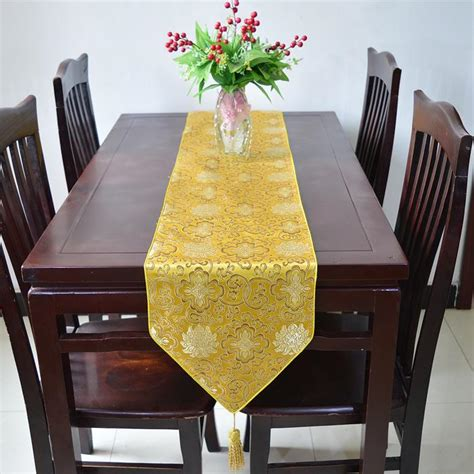 dining room table runners lucky flower table runner luxury dining mat chinese styl