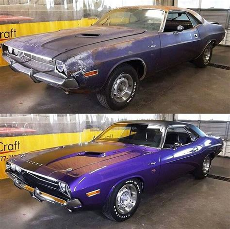 wrecked car before and after 71 challenger r t before after gas cars