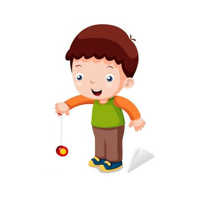 dibujos de niños jugando yoyo vinilo pixerstick ilustraci 243 n de dibujos animados ni 241 os