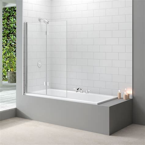 folding shower bath screen merlyn designer 2 panel folding bath screen mb8