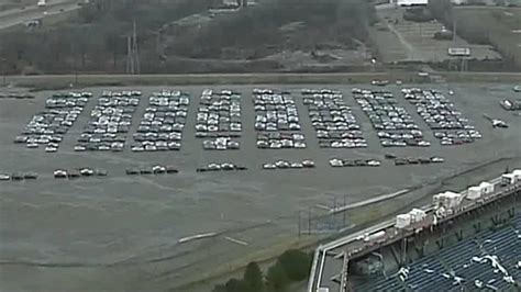pontiac silverdome thousands of volkswagens parked outside pontiac silverdome