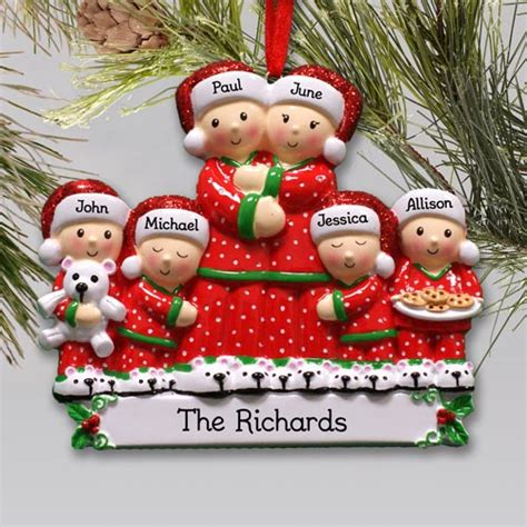 personalized pajama family ornament giftsforyounow