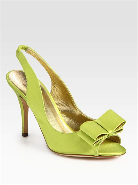 kate spade high heels kate spade high heel shoes in green lime lyst